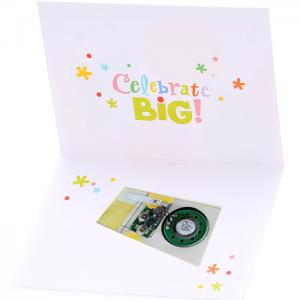 China Offset 4C Printing Musical Greeting Cards 0.5w Speaker Recordable Your Own Audio on sale