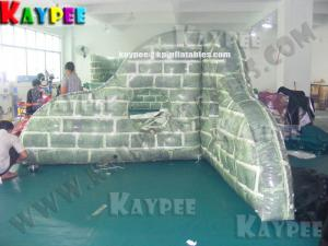 China Inflatable paintball Bunker broken wall,digital printing Deluxe Tactical Field, KPB031 on sale