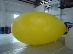 China Yellow Zeppelin Helium Balloon Inflatable Waterproof For Outdoor Sports on sale