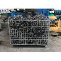 China Workshop Storage Wire Mesh Pallet Cages , Galvanized Welded Industrial Storage Cage on sale