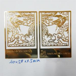 China China antique dragon design chemically etched bookmark, photo etched page marker bookmarks on sale