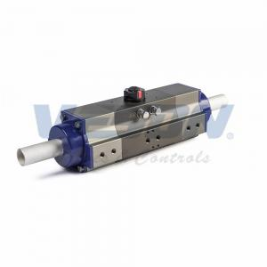 China Explosion Proof 3 Position Valve Actuator , High Speed Small Pneumatic Actuator on sale