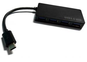 China 5Gbps USB 3.0 4 Port Hub Adapter , USB Powered Network Hub For Laptop / Tablet on sale
