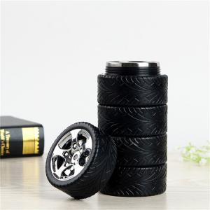 China Europe Standard Stainless Steel Tire Shaped Travel Coffee Mug on sale