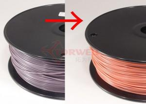 China Spool ABS Color Changing Filament Purple To Pink , 1.75MM ABS Filament For UP / Reprap on sale