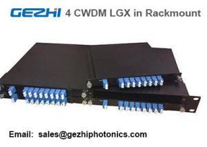 "Quality Passive CWDM Mux Demux 8CH Module by 4pcs LGX Box in one 19"" 1U Rackmount for sale"