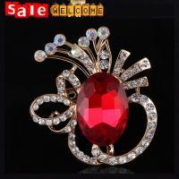 Huge Big Large Crystal Brooch Pin Glass Crystal Bridesmaid Flower Brooch Lapel Pin Jewelry