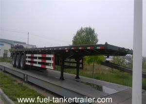 China Standard 3 axle 40ft / 40 ton semi flatbed trailers with CCC , ISO Approved on sale