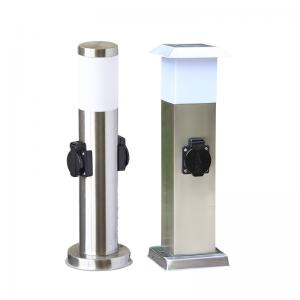 China Stainless Steel Outdoor Garden Electrical Power Sockets Outlet LED Post Light Yard Stake on sale