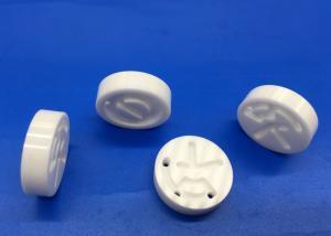 China Zirconia Ceramic Disc / Round  Ceramic Block with Holes Slot Pattern Design on sale