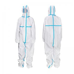 China Hospital Staff Disposable Protective Gowns Coverall Suit For Virus Protection on sale