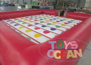 China Colorful Rectangle Inflatable 3D Twister Games / Inflatable Sports For Family on sale