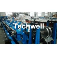 Fully Automatic Galvanized Steel CZ Purlin Roll Forming Machine , Steel CZ Section Profile Roll Forming Equipment