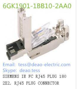 China SIEMENS IE FC RJ45 PLUG 180 2X2. RJ45 PLUG CONNECTOR 6GK1901-1BB10-2AA0 on sale