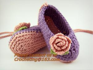 China Crochet Baby, Booties, Socks Knitted, Newborn Loafers Shoes Plain Infant Slippers Footwea on sale