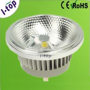 China Dimmable Silver Die-casting Aluminum 1*10W COB LED Spot Lamps AR111 G53 12v 50Hz OEM on sale