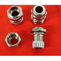 IP68 M12 Brass Plate Nickel Cable Gland PG , 316 Stainless Steel Fasteners