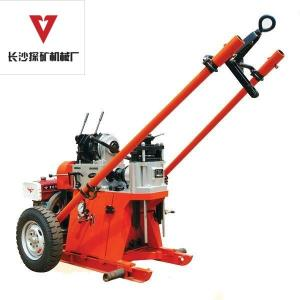 China 100m Exploration Drill Rigs / Trailer Mounted Water Well Drilling Rigs  on sale