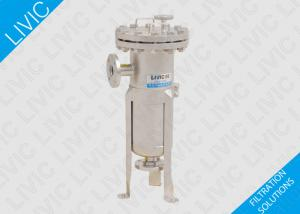 China Pipe Water Filter 0.6MPa / 1.0MPa , Stainless Steel Basket Filter For Electronics Industry on sale