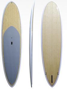 China Fiberglass Paddle Boards Wholesale Innovation Paddle Boards White Rail Bamboo SUP Paddle Board on sale