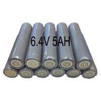 6.4V 5AH Flashlight Lithium Iron Phosphate Batteries , Torch Light Use