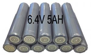China 6.4V 5AH Flashlight Lithium Iron Phosphate Batteries , Torch Light Use on sale