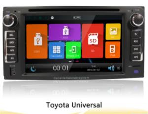 China 6.2 Toyota Universal Car Gps Navigation System With 2 Din Touch Screen Car Radio Dvd on sale