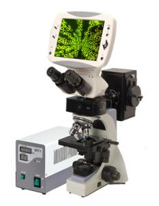 China 5 Mega Pixels Compound Digital LCD Fluorescence Microscope With 8 Inches TFT Screen on sale