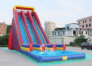 China 10m high giant inflatable water slide for adults made of 0.55mm pvc tarpaulin material from China inflatable factory on sale