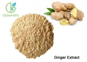 China CAS 23513-14-6 Natural Ginger Root Extract Gingerol Powder Yellow Brown Color on sale