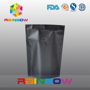 China Mouisture Proof Black Matte Aluminum Foil Coffee / Tea Bag Packaging on sale