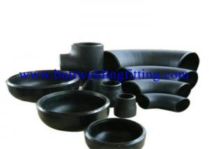 China Black Welded Pipe Fittings Stainless Steel Pipe End Caps ASTM A234 WP22 / WP9 / WP91 on sale