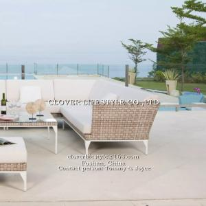 China Flat wicker sofa set  for Home,  Hotel, Garden and Beach by Clover Lifestyle Outdoor Furniture China Leisure furniture on sale