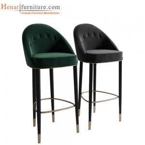 Quality Taburetes de bar copetudos modernos de la cocina del acabado en negro/sillas for sale