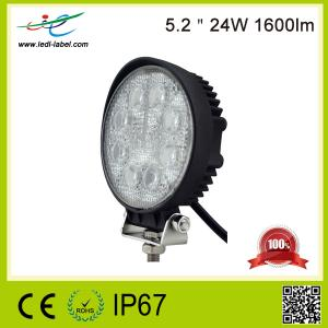 China Perfect performance 5.2 inch 24W auto led working lamp round truck led work lights for car offroad on sale