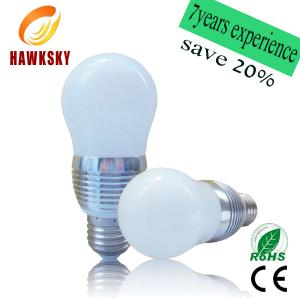 China Factory Price High Lumen RGB LED bulb,3W E27 remote control light RGB LED bulb lighting on sale