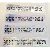 BOPP Tamper Proof Security Stickers Self Adhesive Flame Retardant