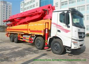 China Beiben V3 35m -51m Mini Concrete Pump Truck , Truck Mounted Concrete Pump on sale