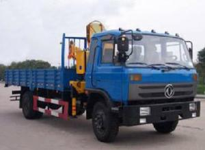 China hot sale Dongfeng 4*2 LHD/RHD  5-6ton truck mounted crane (CLW5120JSQT3), dongfeng folded boom mounted on truck for sale on sale