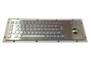 China Blue Backlit Gaming Keyboard , 64 Keys Rugged Metal Track Ball Wireless Light Up Keyboard on sale