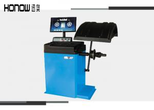 China LCD Monitor Car Wheel Balancing Machine Dynamic / Static Modes Balance 50 / 60 HZ on sale