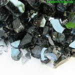 1/4' 1/2' Black Tempered Broken Glass for Outdoor Fire Pit