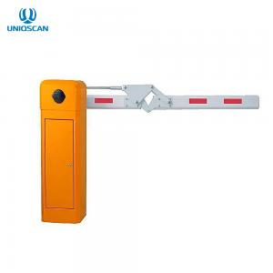 China 90 Degree Folding Arm Flap Barrier Gate DC Brushless Motor Road Access Turnstile on sale