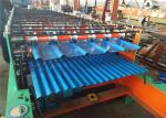 R Panel Iron Steel Sheet Metal Roll Forming Machines Low Noise For Roof / Wall