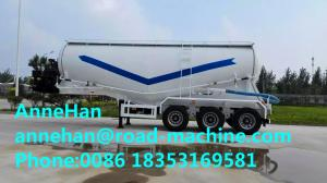 China 60M3 Polyurethane Painting Bulk Cement Transport Truck With #50 #90 Fifth Wheel on sale