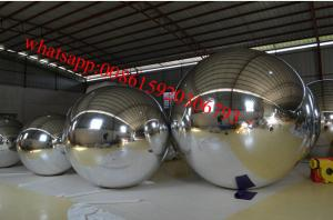 China Colorful Inflated Helium Balloons / Inflatable Mirror Ball Ornaments For Advertising on sale