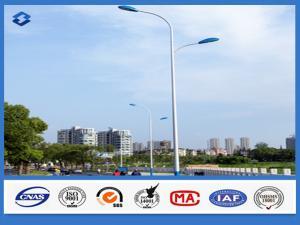 China LED Light Street Lighting Pole 5 m - 12m Height Against earthquake of 8 grade on sale