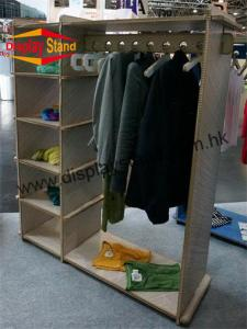 China Convenient Shopping mall MDF Floor Standing Display Rack with OEM Logo on sale