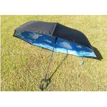 Innovative Two Layer Reverse Folding Umbrella That Closes Inside Out Metal Tips