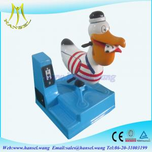 China Hansel high quality one seat fiber glass small indoor kids amusement rides for sale on sale